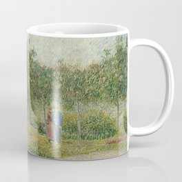 Garden in Montmarte with lovers by Vincent Van Gogh Coffee Mug