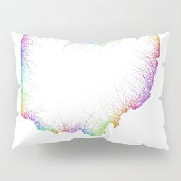 Rainbow Ohio map Pillow Sham