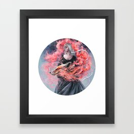 DragonFox Framed Art Print