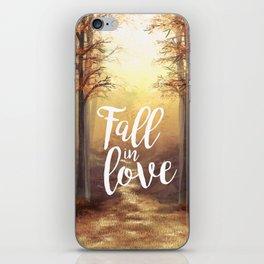 Fall in love of Autumn iPhone Skin