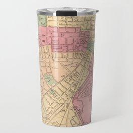 Vintage Map of Worcester MA (1871) Travel Mug