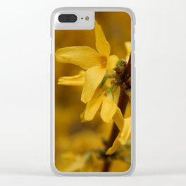Bloomin' Yellow Clear iPhone Case