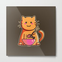 A cat's favourite meal Metal Print
