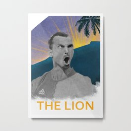 Zlatan The Lion Metal Print