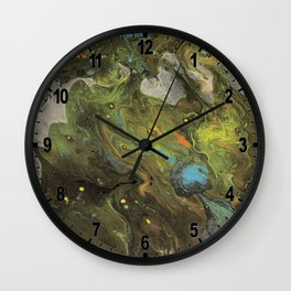 Acrylic Paint Pour (Dirty Pour) 1 Wall Clock