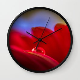 Simply Put water droplet on a Gerber Daisy Wall Clock