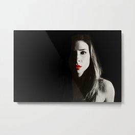 Red Lipstick Metal Print