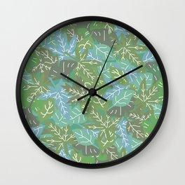 Autumn Leaves_L Wall Clock