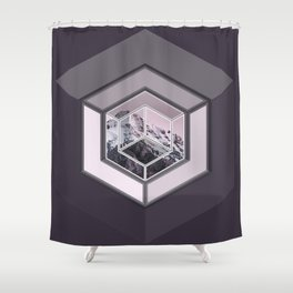 Mountain Cube Shower Curtain