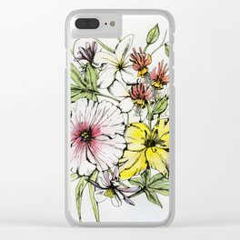 Amsterdam Flowers Clear iPhone Case