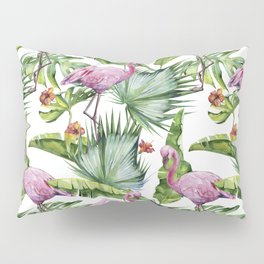 Flamingo Jungle #society6 #buyart Pillow Sham