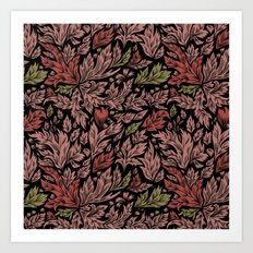 Abstract flora pattern Art Print