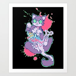 Felis Catus Zombificus Art Print