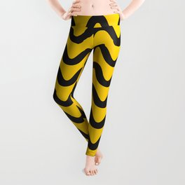 Yellow Ripple Leggings