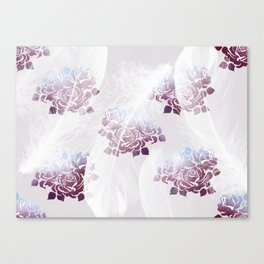 Feathers and Roses Canvas Print
