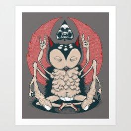 Owl Balls Art Print