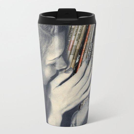 mrs. Vinyl Metal Travel Mug