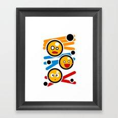 happy smiley trio Framed Art Print