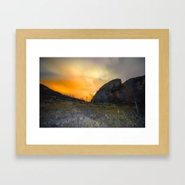 Arctic night Framed Art Print