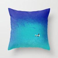 airplane Throw Pillows featuring Airplane by Brad Newman