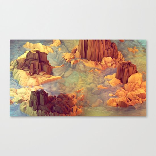 Nonsense Island [Warm Version] Canvas Print