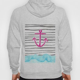 PINK Anchor Symbol - Stripes/blue  Hoody