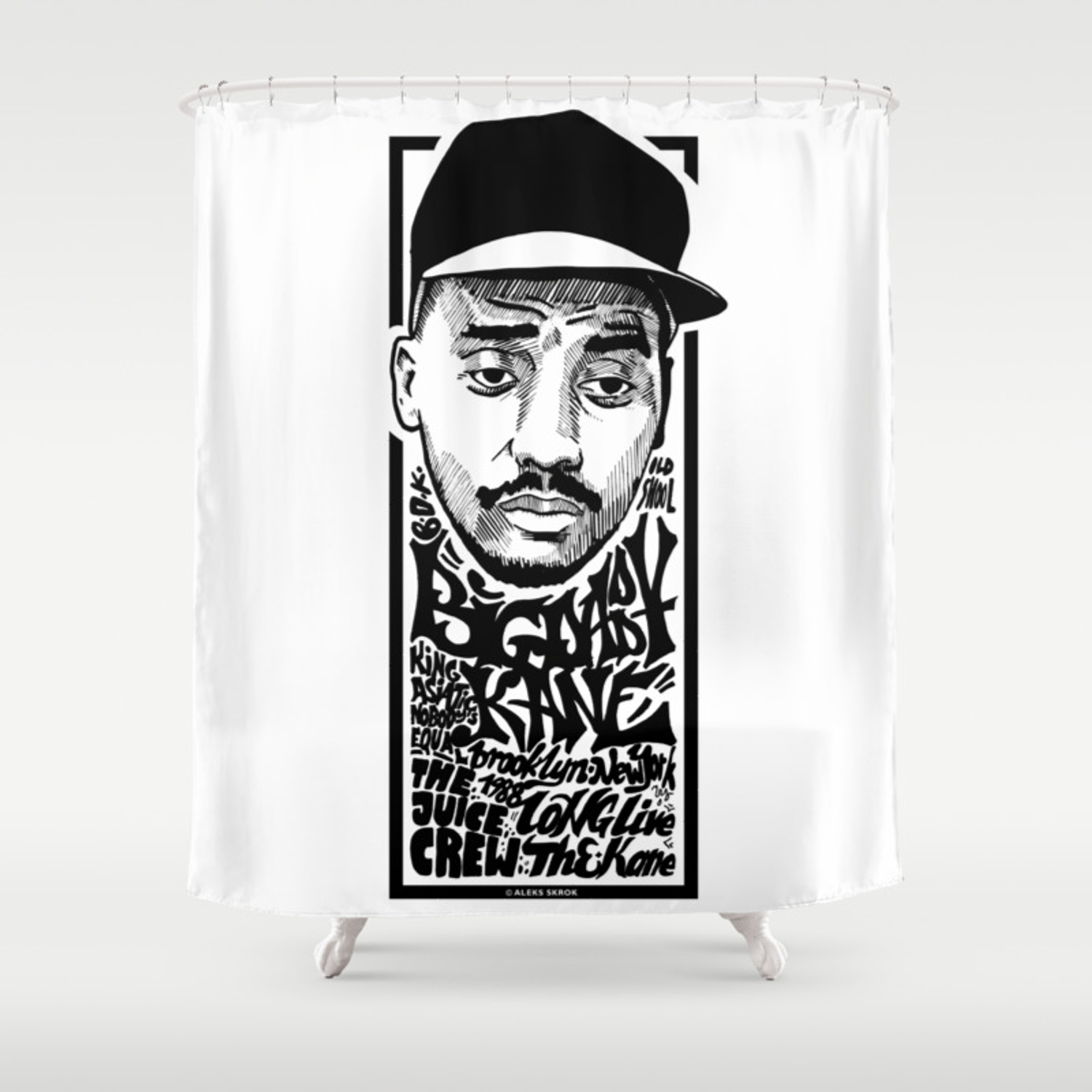 Big Daddy Kane Rapper S Deligth Shower Curtain