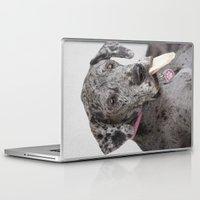 great dane Laptop & iPad Skins featuring Great Dane by Deborah Janke