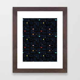 Pac-Man Retro Arcade Gaming Design Framed Art Print