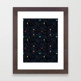 Pac-Man Retro Arcade Gaming Design Framed Art Print
