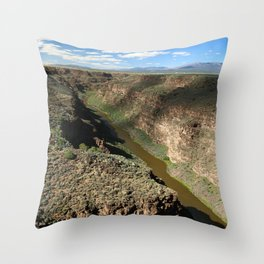 Rio Grande Gorge Throw Pillow