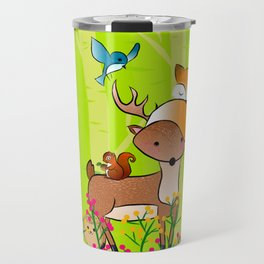 animals of the wood Travel Mug