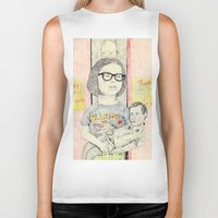 ghost world Biker Tanks featuring ghost world by withapencilinhand
