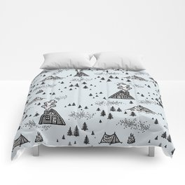 Nature Pattern Blue Comforters