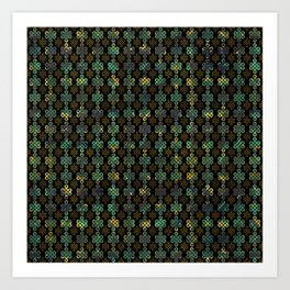 Endless Knot Pattern - Gold and Marble Art Print