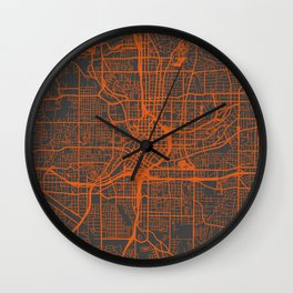 Atlanta map Wall Clock