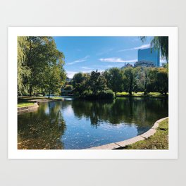 Boston Common in Spring Art Print