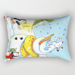 Snowy Surprise Party Rectangular Pillow