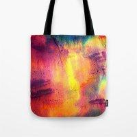 tie dye Tote Bags featuring Tie Dye by Sarah Maybin