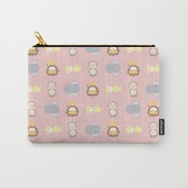 Jungle Animals - Pink - Small Pattern Carry-All Pouch