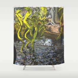 copper chrome and electric eels Shower Curtain