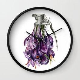 Flowerbomb Wall Clock