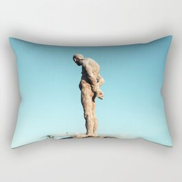 Lonely old man Rectangular Pillow