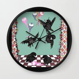 Crow Serie :: Eye Balloons (cria cuervos y te sacaran los ojos) Wall Clock