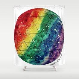 Rainbow Prism Planet Shower Curtain
