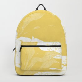 japanese flowers. Yellow Backpack
