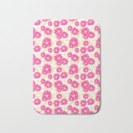 12 Sketched Mini Flowers Bath Mat