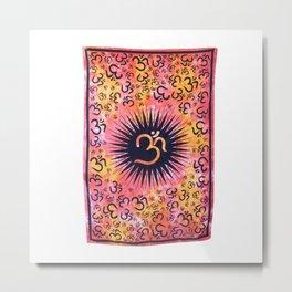 Om Tapestry Spiritual Wall Hanging Metal Print