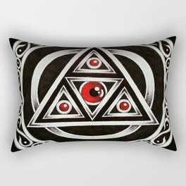 Black illuminate Rectangular Pillow