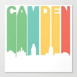 Retro 1970's Style Camden New Jersey Skyline Canvas Print